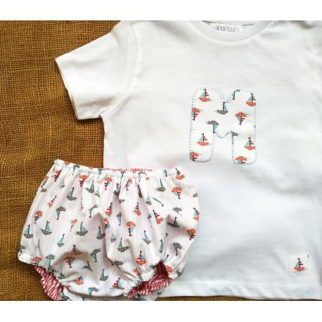 Camiseta y culotte reversible a juego