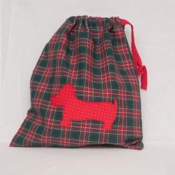 Bolsita Escocesa Perro Rojo