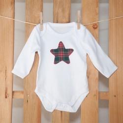 Body Estrella Escocesa Roja