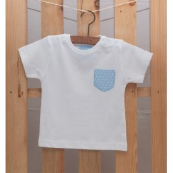 Camiseta Bolsillo Azul