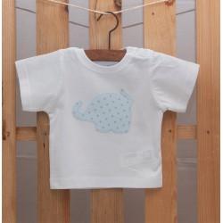 Camiseta Elefante Azul