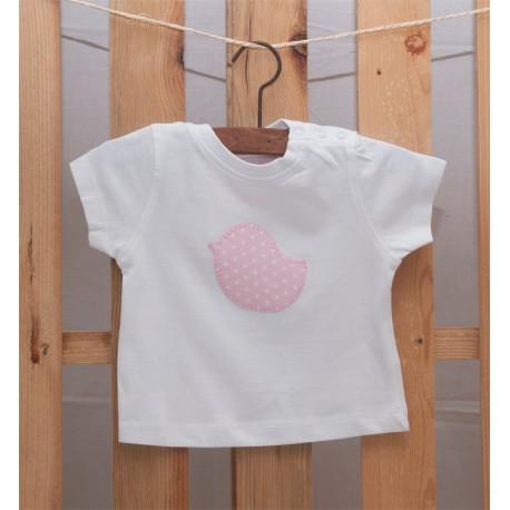Camiseta Pajarito Rosa