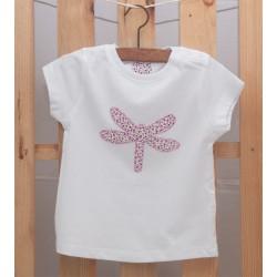 Camiseta Libélula Malva