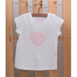 Camiseta Corazón Rosa