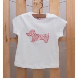 Camiseta Perro Salchicha Rojo