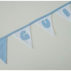 Guirnalda de tela personalizada azul estrellas