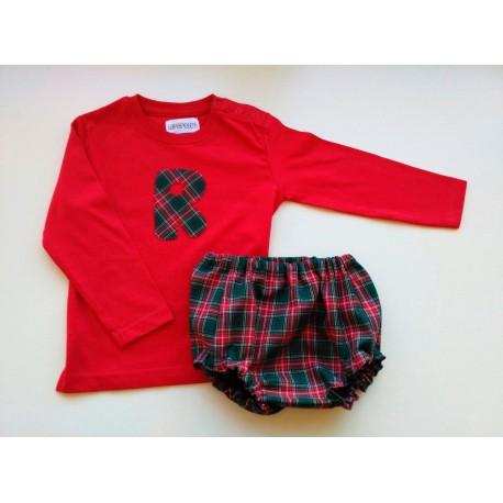 Camiseta y Culotte Escocés Rojo