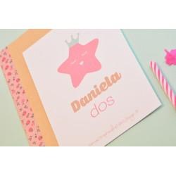 Invitación Pink Star
