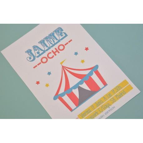 Invitación Circus