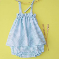 Mini Vestido y Cubrepañal a juego